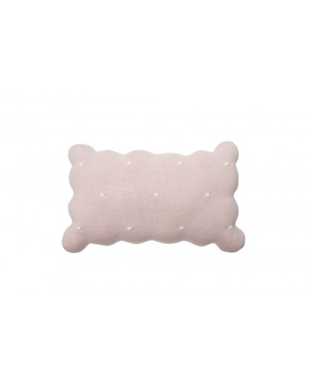 LORENA CANALS KNITTED CUSHION BISCUIT PINK PEARL