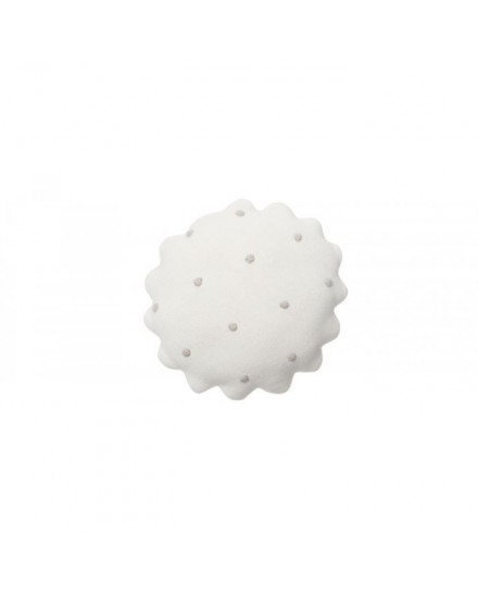 LORENA CANALS KNITTED CUSHION ROUND BISCUIT IVORY