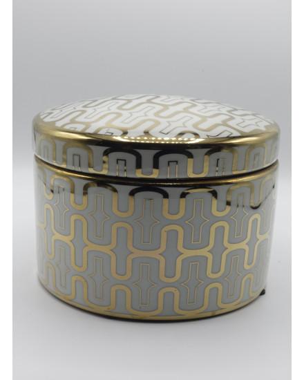 BOXE 'BUBBLE' CERAMICS WHITE/GOLD