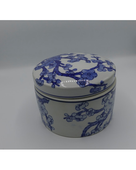 BOXE 'CHERRY BLOSSOM' CERAMICS WHITE/BLUE