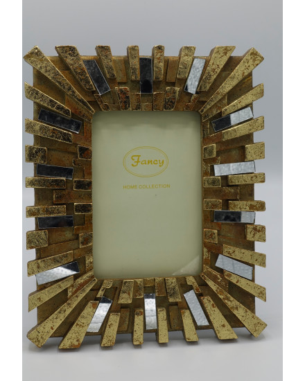 S/4 PHOTO FRAME GOLD 'EMPIRE'