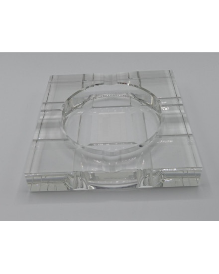 ASHTRAY IN CRYSTAL 'HAVANA' 20x20x3.5h