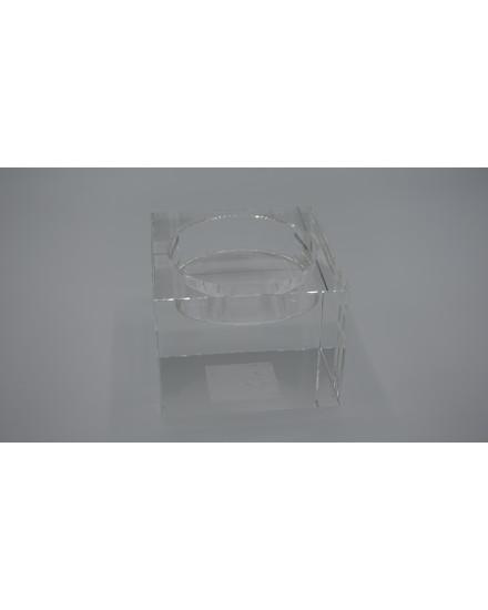 CANDLE HOLDER IN CRYSTAL 'WESTBURY' 10x10x7.5h