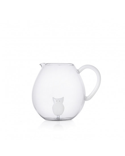 ANIMAL FARM JUG WHITE OWL
