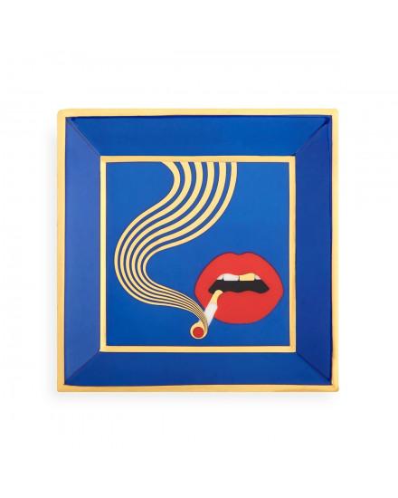 Jonathan Adler Full Dose Square Tray - Blue