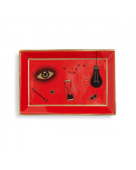 Jonathan Adler Bijoux Rectangle Tray - Red