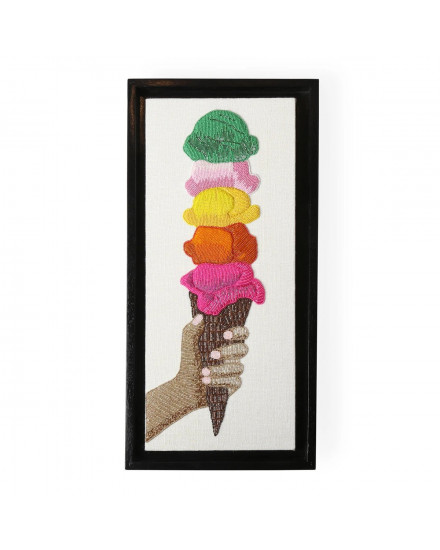 Jonathan Adler Ice Cream Beaded Wall Art