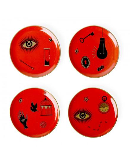 Jonathan Adler Bijoux Coasters - Red