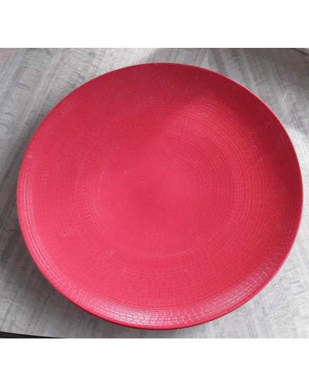 "PLATO JR-Chop Plate 12""-Lohan Red-Red Lohan"