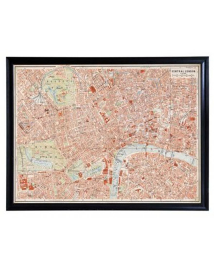 MAPS LONDON ART(218x167)-BLK WD